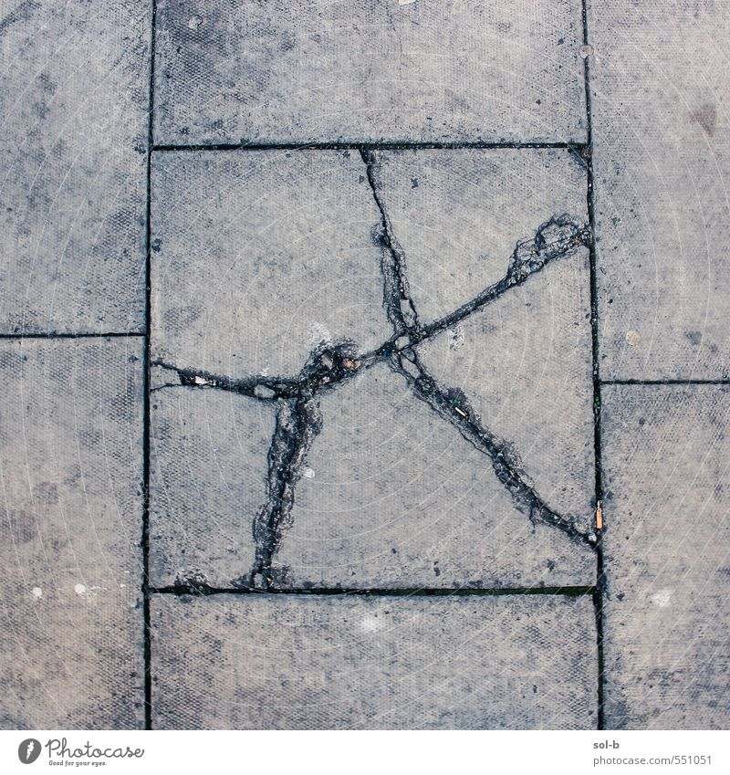 don't step on the cracks Old City Dark Street Lanes & trails Gray Dirty Poverty Concrete Broken Illness Anger Fatigue Pain Force Crack & Rip & Tear