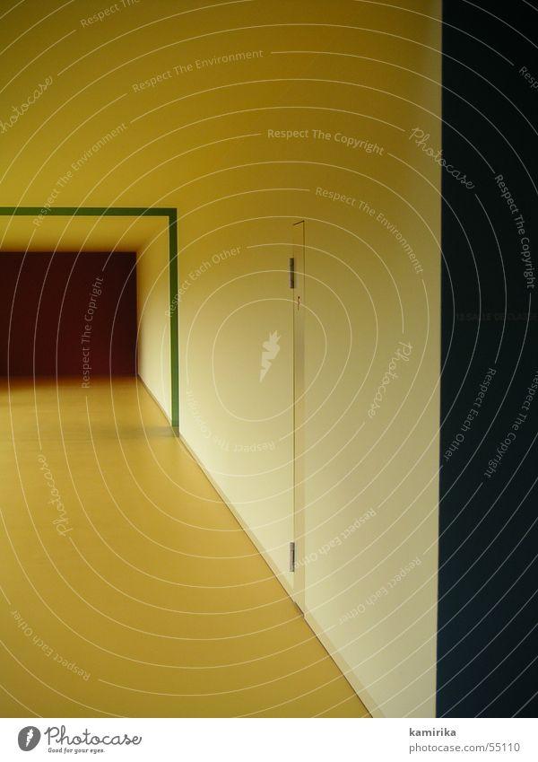 Yellow Colour Bright Door Room Switzerland Hallway Grade (school level) Corridor