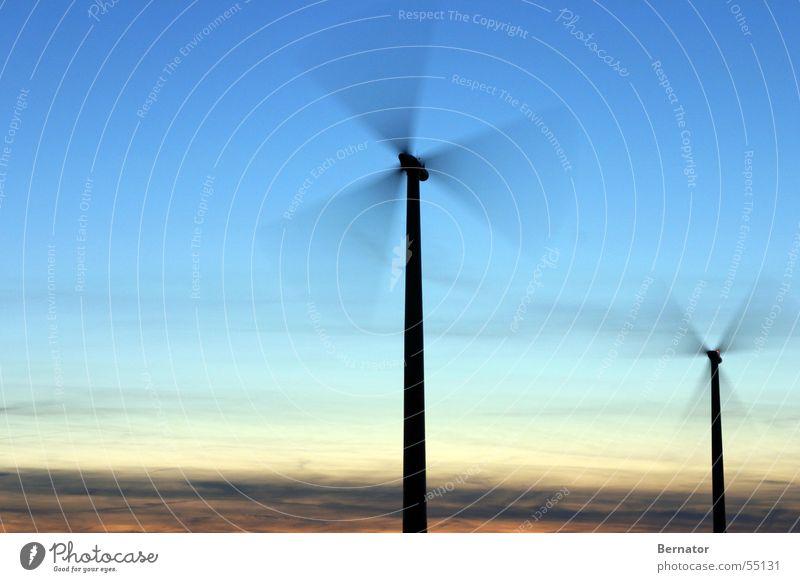 Sky Wind Wind energy plant Mill Renewable energy