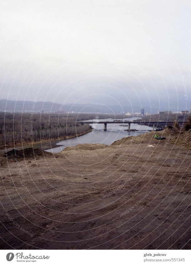 Doc #universe Landscape Earth Storm clouds Town Bridge Truth Siberia Forestry River Colour photo Exterior shot Deserted Isolated Image Neutral Background Day