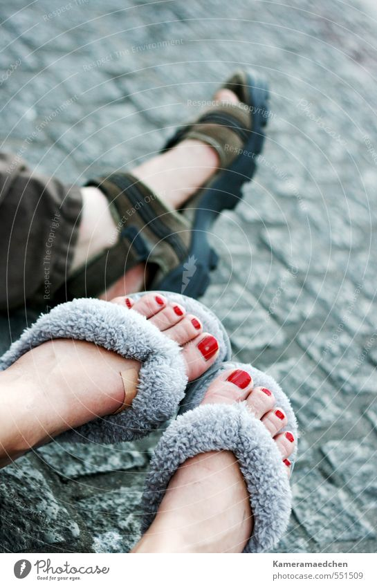 Broken in Amsterdam Vacation & Travel Summer Human being Feet 2 30 - 45 years Adults Pedestrian Slippers Sandal Sit Wait Cool (slang) Together Fatigue