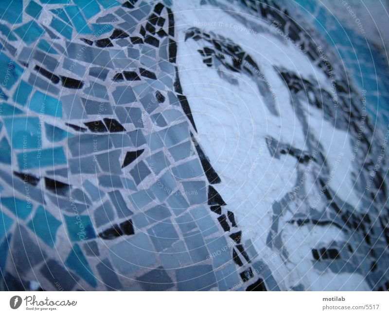 mosaic Mosaic Photographic technology che guevara Reunification Liberate liberation struggle revolutionary Blue