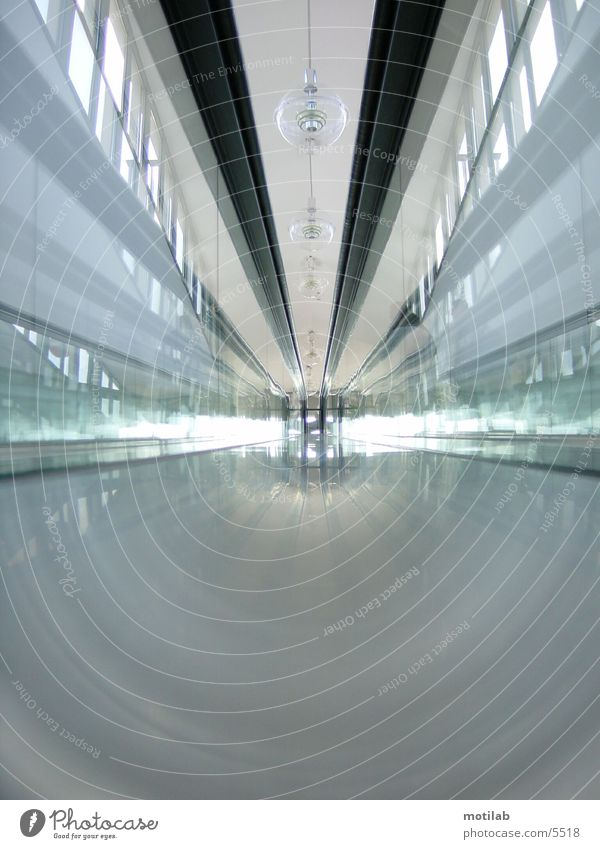 In the escalator tunnel Escalator Tunnel Movement Photographic technology Glass Blur