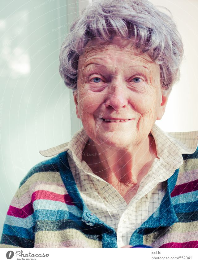 Portrait of Joanna Joy Care of the elderly Contentment Relaxation Living or residing Retirement Human being Feminine Female senior Woman Grandmother