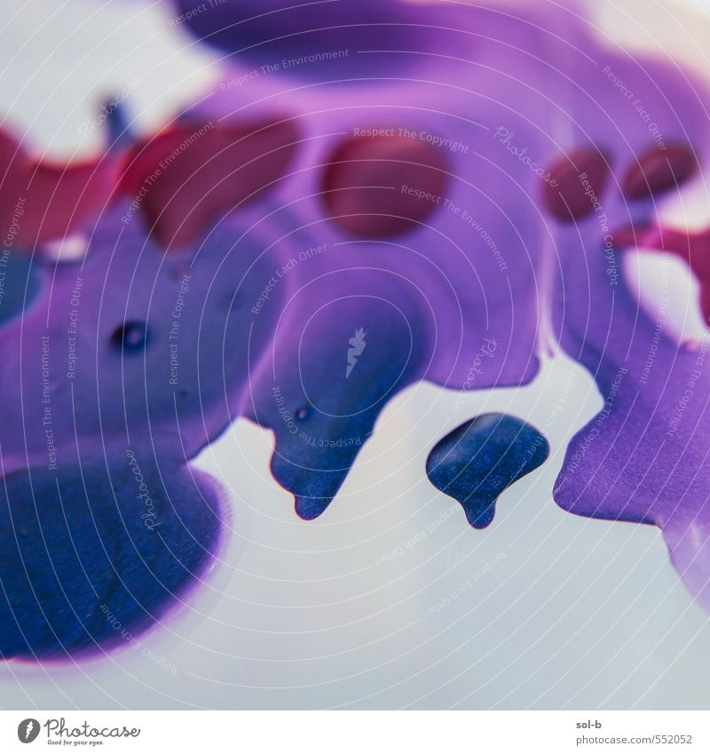 Blue Spot Style Design Exotic Beautiful Nail polish Art Work of art Water Fluid Uniqueness Near Wet Violet Red Float in the water Floating Drop Mixture Melt