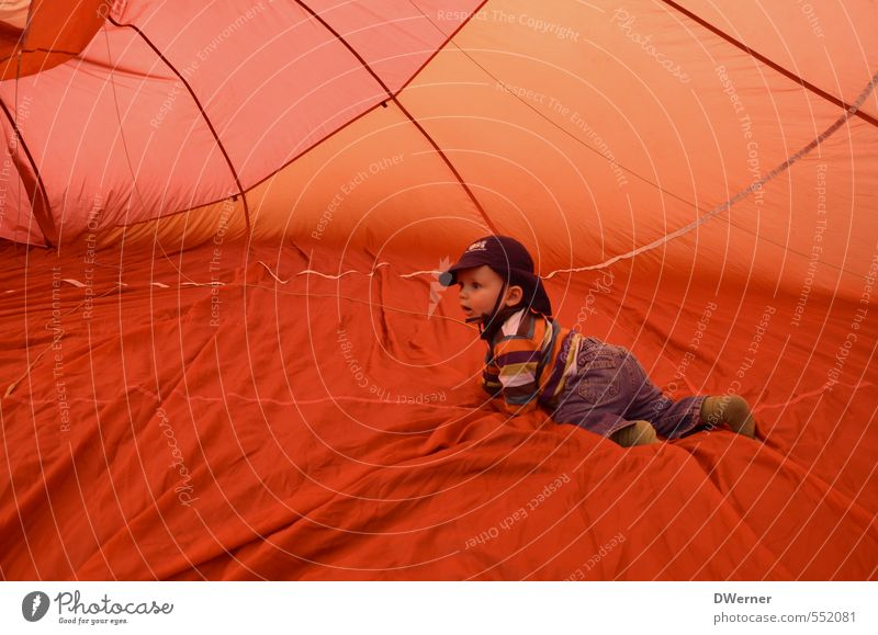 Human being Child Vacation & Travel Summer Red Joy Far-off places Life Sports Movement Playing Happy Healthy Orange Body Aviation