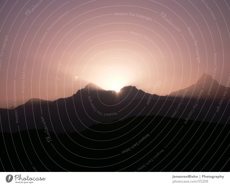 Sun Calm Mountain Lighting Switzerland Visual spectacle Celestial bodies and the universe