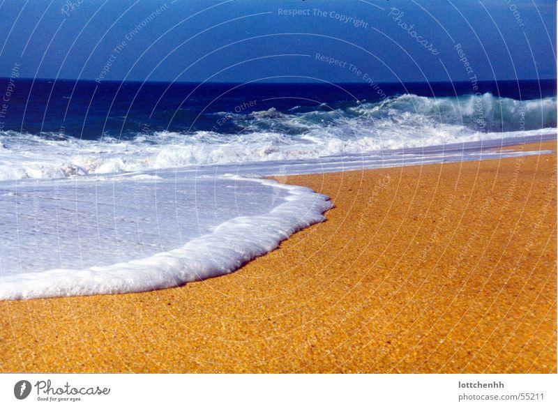 Sun Ocean Blue Summer Beach Vacation & Travel Yellow Sand Portugal Beach vacation