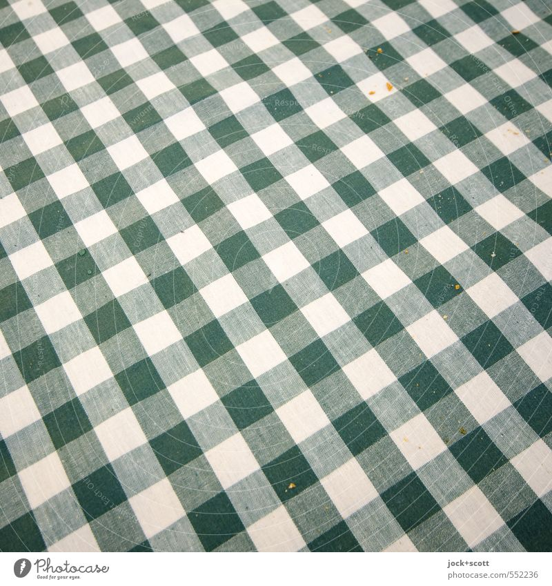 check the crump Crumbs Nutrition Style Culture Decoration Tablecloth Line Stripe Network Lie Esthetic Authentic Simple Firm Small Green White Hospitality
