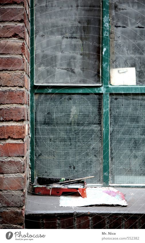 the artist's window Flat (apartment) Redecorate Work and employment Craftsperson Painter Artist Industrial plant Factory Building Wall (barrier) Wall (building)