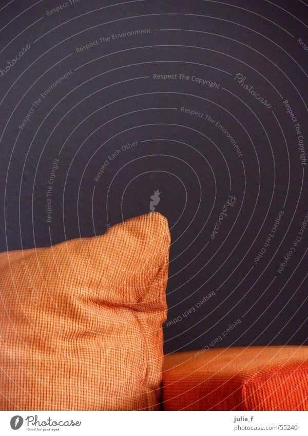Brown Orange Corner Sofa Interior design Furniture Bolster