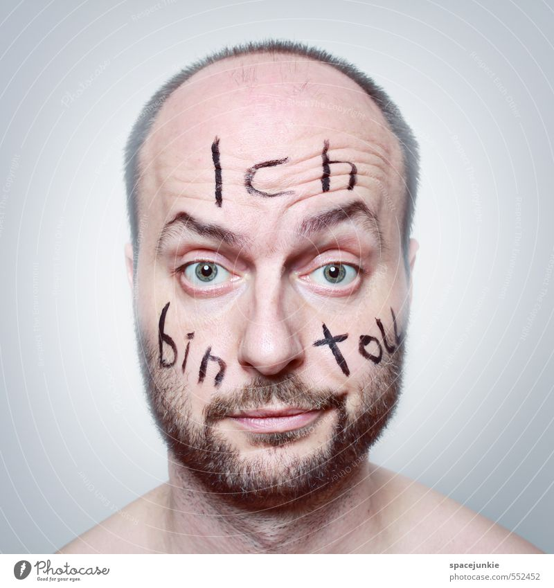 hubris Human being Masculine Young man Youth (Young adults) Man Adults 1 30 - 45 years Art Black-haired Short-haired Bald or shaved head Designer stubble Beard