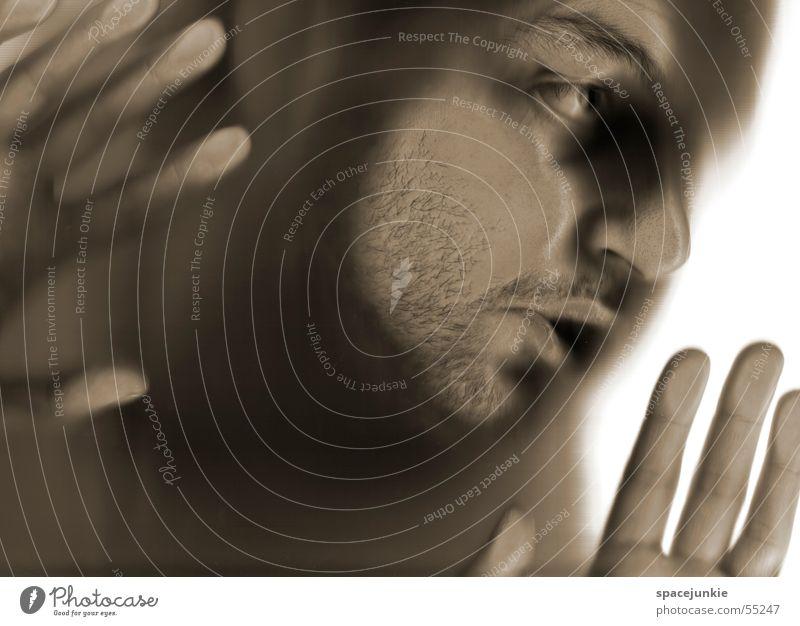 Scan test (2) Scanner Crazy Human being Face Black & white photo Blur scan