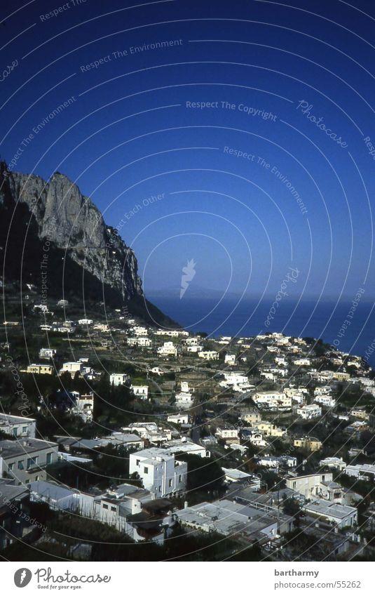 Sky Ocean Blue House (Residential Structure) Mountain Capri