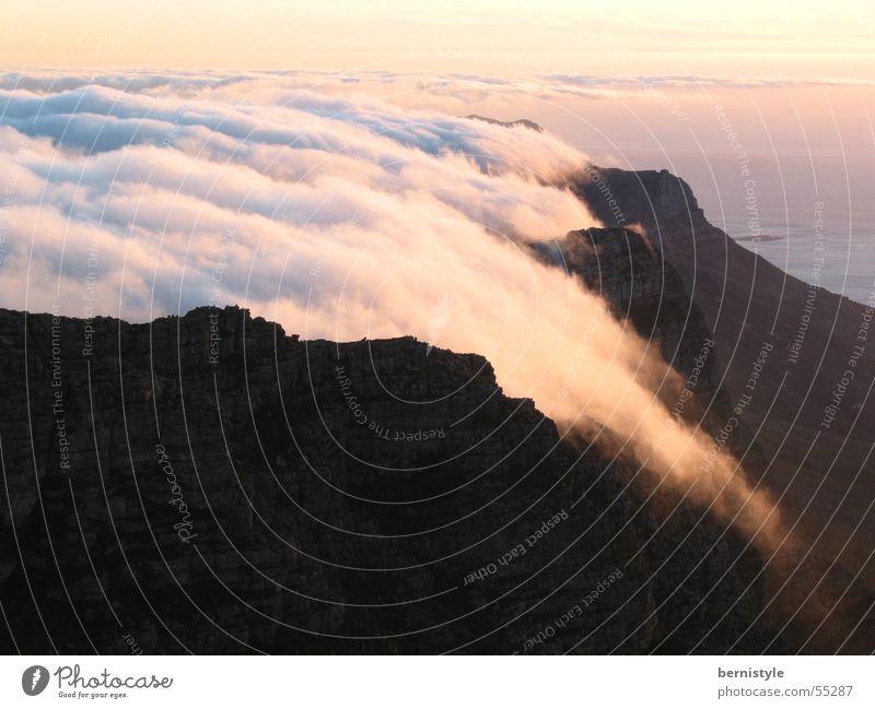 Table Mountain Clouds Sunset Exterior shot Cape Town Joy Freedom Landscape