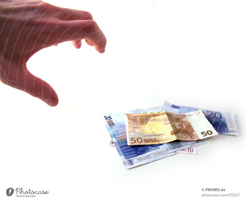 Hand Fear Money Dangerous Euro Bank note Panic Paying Thief Financial Industry Find Theft Claw Take Treasure