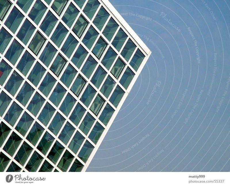 glass house Pavilion Sharp-edged Glass Cubic Blue