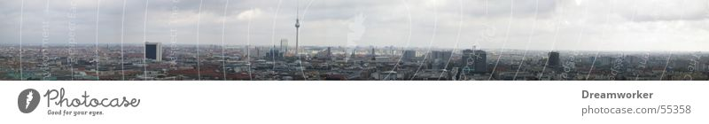 Sky Blue Berlin Large Panorama (Format) Berlin TV Tower Alexanderplatz Nature
