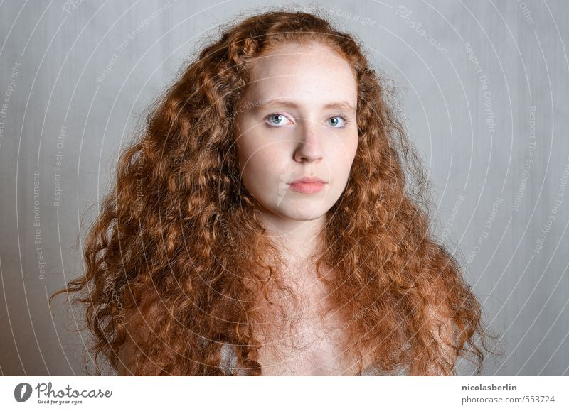 MP82 - Lion Beautiful Hair and hairstyles Face Healthy Senses Calm Feminine Young woman Youth (Young adults) 1 Human being 18 - 30 years Adults Red-haired