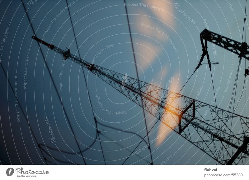 Dark Energy industry Electricity Electricity pylon Transmission lines