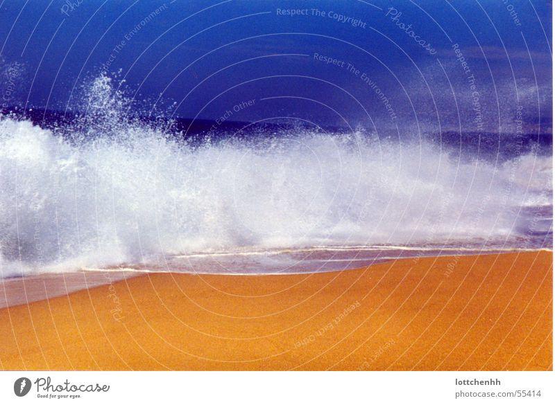 Water Ocean Blue Beach Yellow Waves Portugal