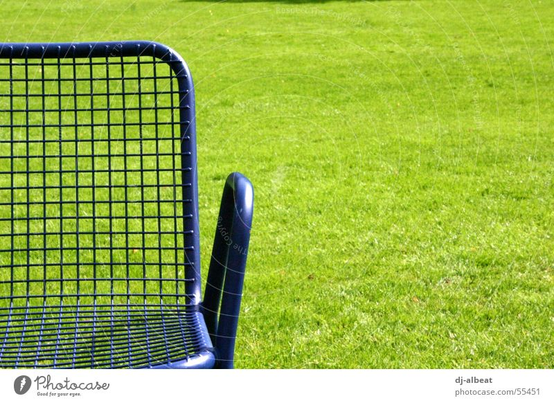 Nature Green Blue Joy Calm Relaxation Meadow Freedom Park Metal Sit Chair Lie To enjoy Mannheim