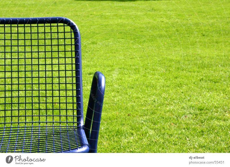 Nature Green Blue Joy Calm Relaxation Meadow Freedom Park Metal Sit Chair Lie To enjoy Mannheim