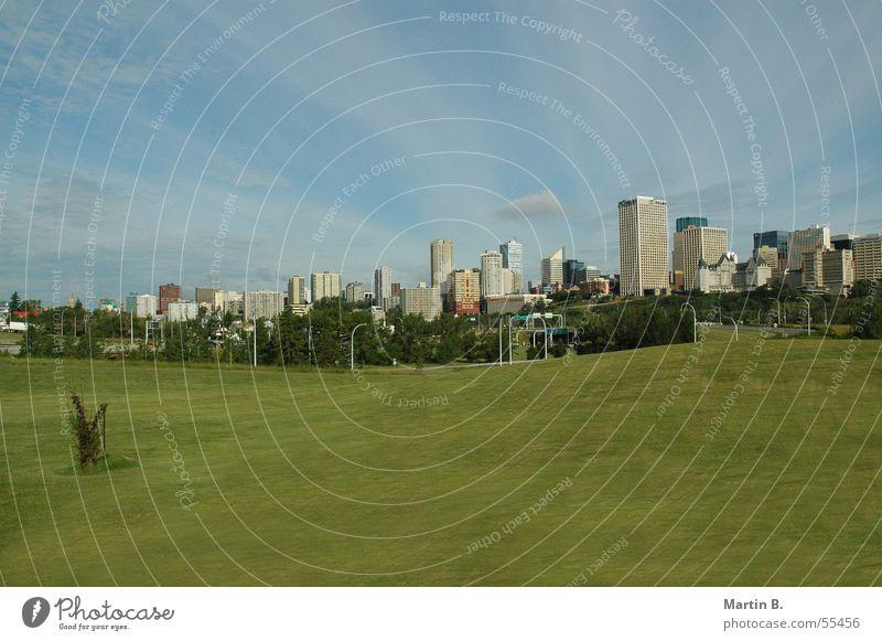 Green Lawn Skyline Canada Alberta Edmonton