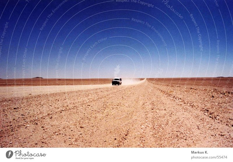 nowhere Africa Namibia Red Offroad vehicle Hot Loneliness Doomed Dust Dusty Street Empty somewhere Desert Ski run pad Sand Car jeep Namib desert Gravel
