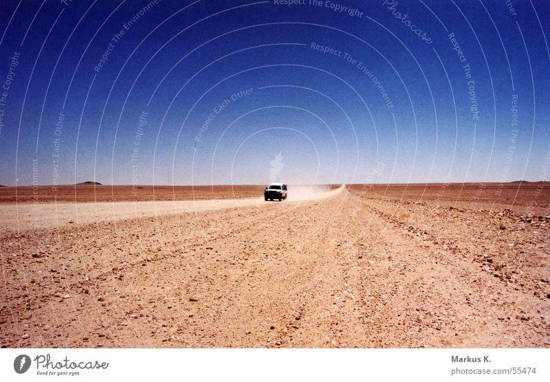 Red Loneliness Street Car Sand Empty Africa Desert Hot Doomed Gravel Dust Namibia Ski run Dusty Namib desert