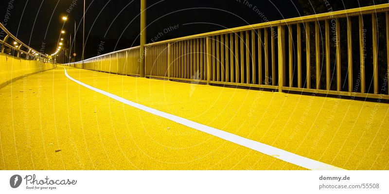 street@night Night Yellow Würzburg Lantern Human being Long Deep Street Lighting Handrail Bridge conrad more adenauer dark line