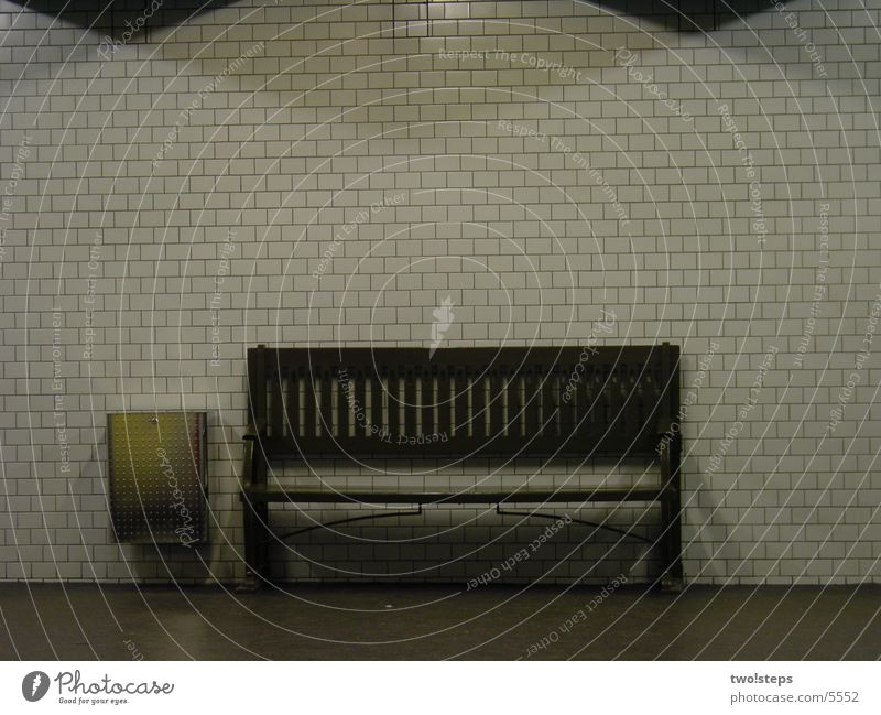 Bank subway Kaiserdamm Underground Town London Underground Architecture Bench imperial embankment Berlin