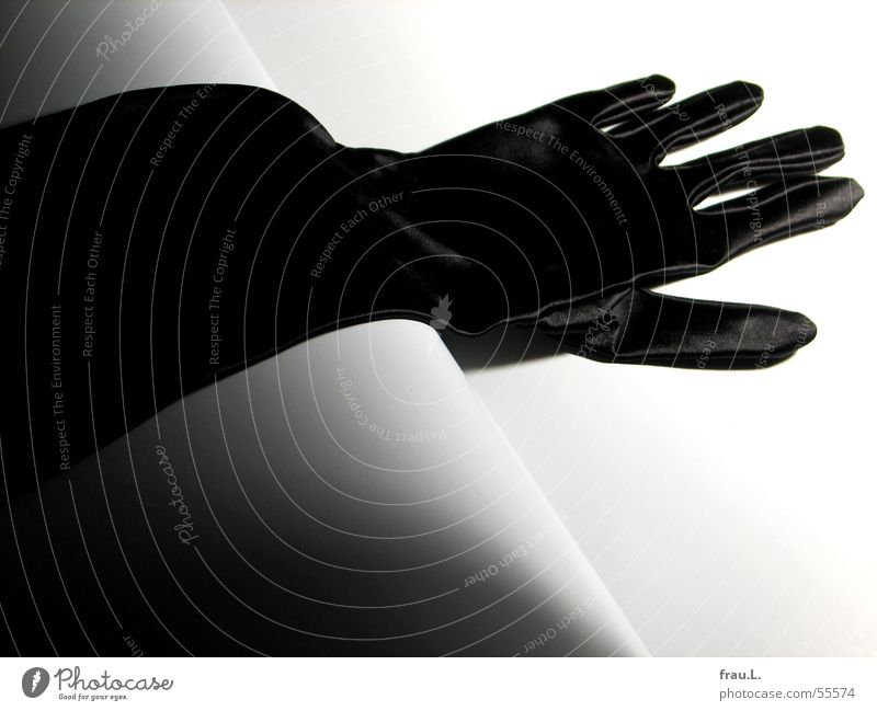 glove Gala Gloves Satin Black Feminine Going out Evening wear Clothing Luxury Club Elegant Shadow Feasts & Celebrations