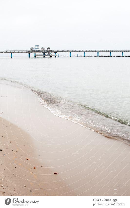 You seek the sea Vacation & Travel Tourism Trip Beach Ocean Winter Water Sky Horizon Bad weather Baltic Sea Island Cold Calm Loneliness Maritime Sellin Rügen