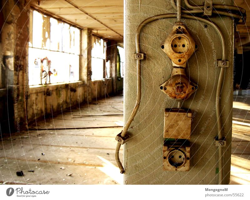 Old Loneliness Window Dirty Cable Factory Switch Socket