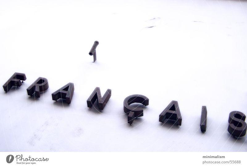 é France Institut Français Cologne Minimal Typography Letters (alphabet) White francais minimalism mnml Characters