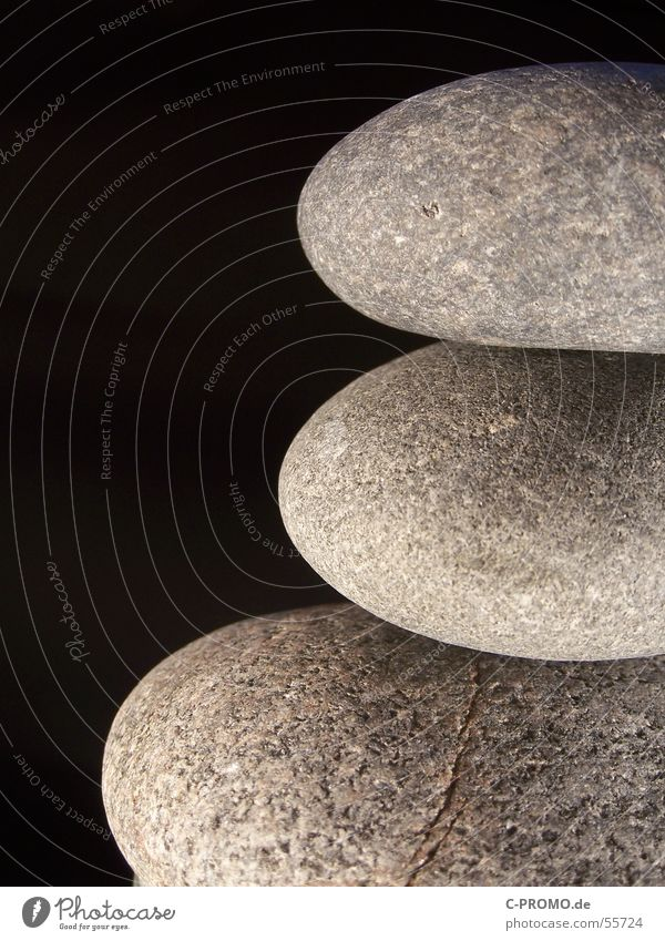 Black Relaxation Stone Contentment Together 3 Buddhism Zen Minerals