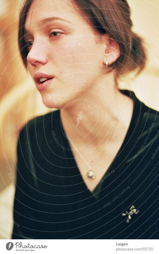 Black To talk Jewellery Sweater Chain Neck Velvet Answer Ochre