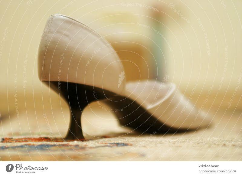 White Black Footwear Floor covering Leather Landing Sandal Dance floor