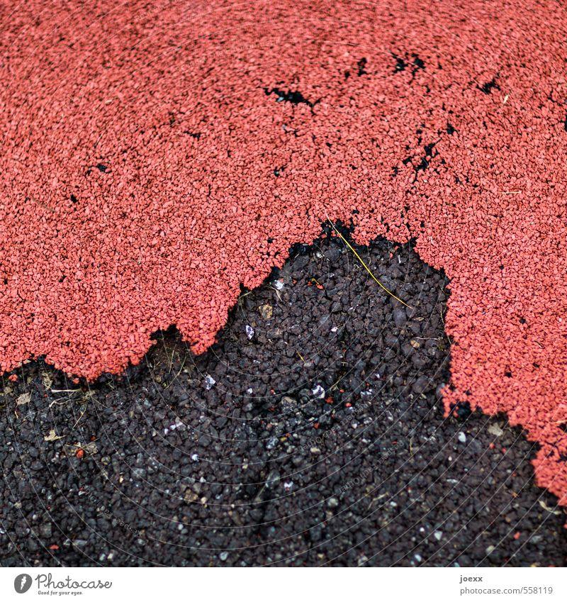 Old City Red Black Street Lanes & trails Transience Protection Asphalt Attachment Under