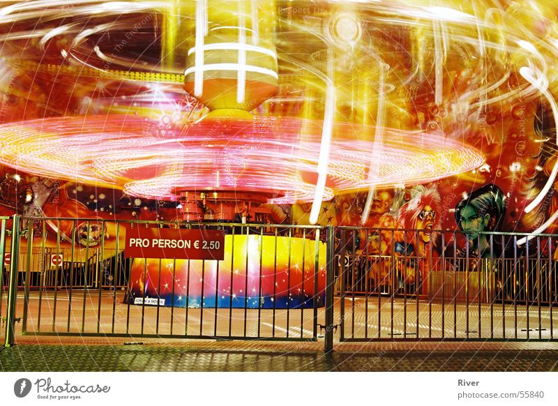 Vienna Prater Multicoloured carousel