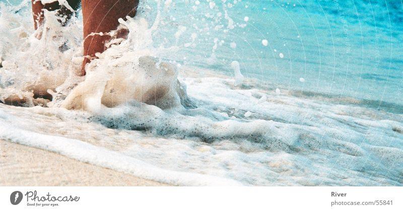 Feet in water Beach Ocean Waves