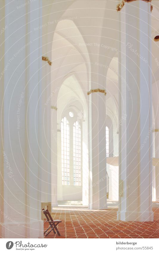 White Window Building Religion and faith Architecture Gold Church Chair Column Heavenly Gothic period Church window Brick Gothic