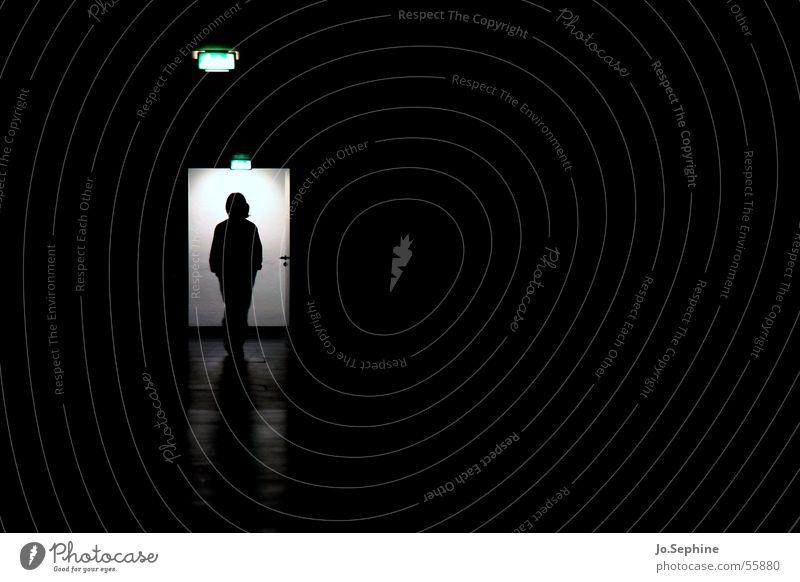 Away from the light... - Impression nursing home II 1 Human being conceit Gloomy Corridor Eerie Passage lighting Interior shot Psychiatry Patient