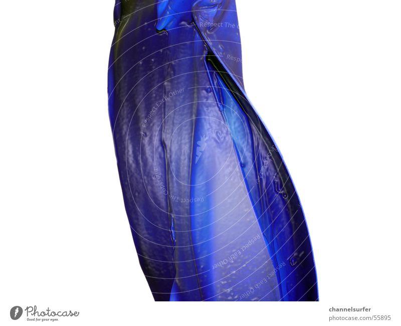 Blue Art Fluid Statue Curved Curved Lapis lazuli