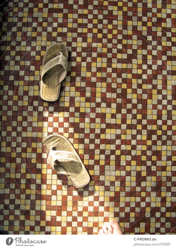 Great flooring Mosaic Yellow Red Brown Sandal Swimming pool Wellness Clothing Detail Tile Feet Spa tiles foot