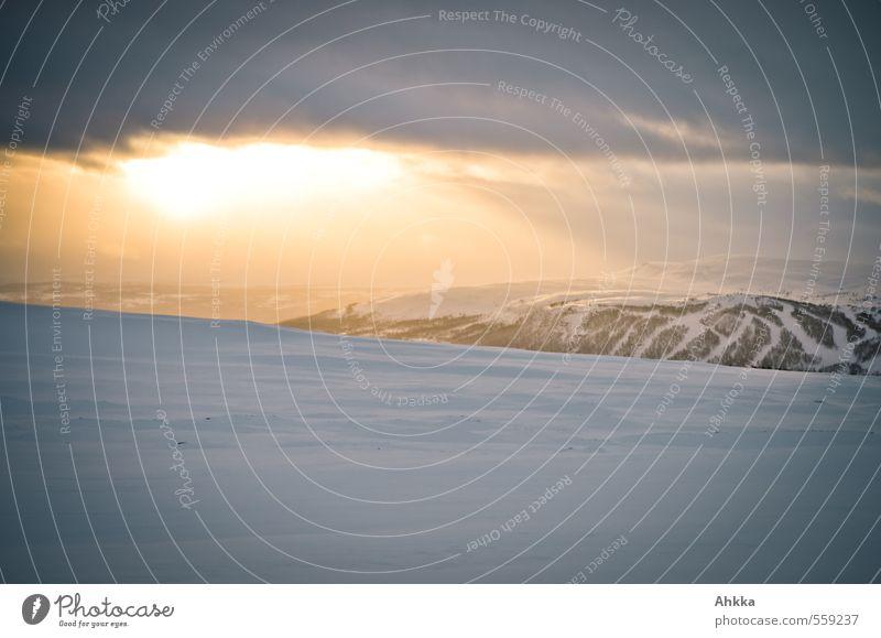 Nature Sun Landscape Calm Far-off places Winter Mountain Snow Freedom Moody Ice Power Esthetic Perspective Climate Joie de vivre (Vitality)