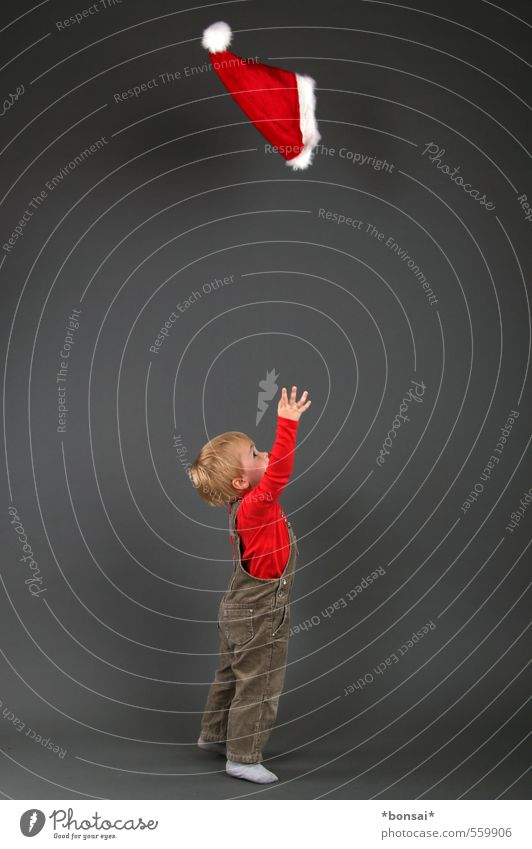 advent, second act Playing Christmas & Advent Child Boy (child) Infancy 1 Human being 1 - 3 years Toddler Cap Movement Catch Throw Brash Happiness Small Cute