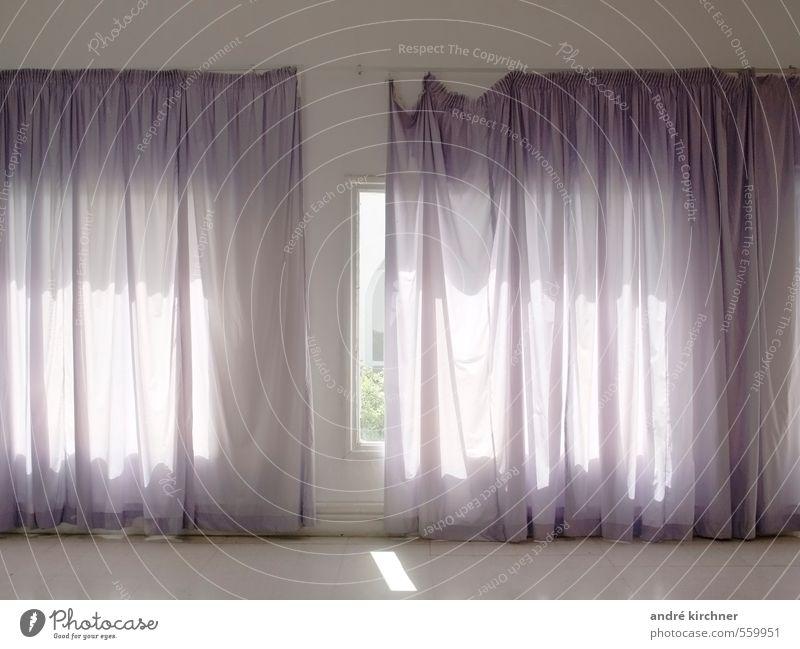 curtain Hammamet Tunisia Africa Window Old Broken Secrecy Obedient Shame Mistrust Apocalyptic sentiment Frustration Concern Decline Drape Villa Colour photo