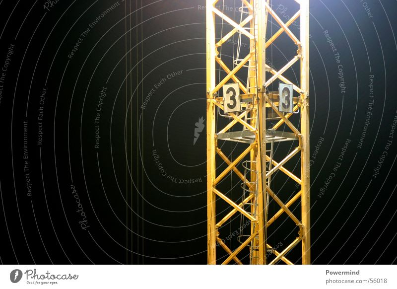 Yellow Above Air Stairs Tall 3 Rope Construction site Level Middle Crane Weight Construction worker Scaffold Floodlight Airy